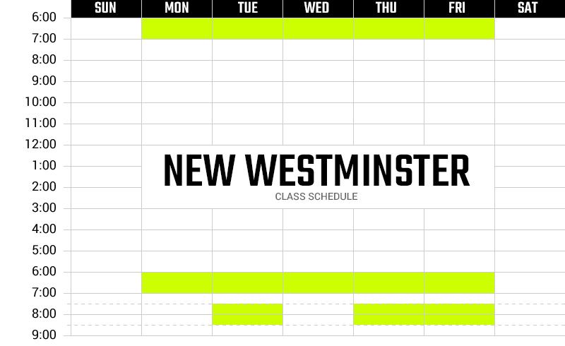 Survivor Bootcamp New Westminster Weekly Schedule