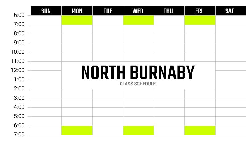 Survivor Bootcamp North Burnaby Weekly Schedule